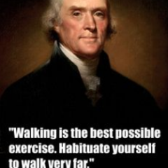 Thomas Jefferson on Walking