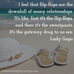 Lady Gaga on Flip-Flops