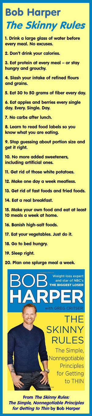 Here are rules 1 to 20 of The Skinny Rules: The Simple, Nonnegotiable Principles for Getting to Thin #weightlosstips #loseweightnow #diettips #getthin