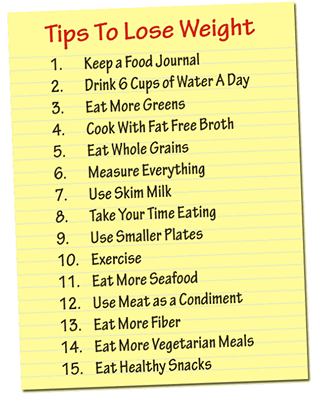 Here are 15 ways to start losing weight. There are some great weight loss tips in this list.