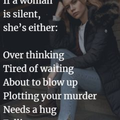 If A Woman Is Silent