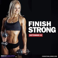 Finish Strong: The 100 Day Challenge