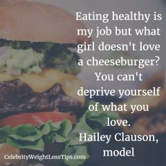 Hailey Clausen on eating healthy