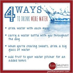 4 Ways to Drink More Water by Jean Hausmann