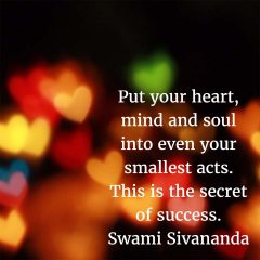 Swami Sivananda: The Secret to Success
