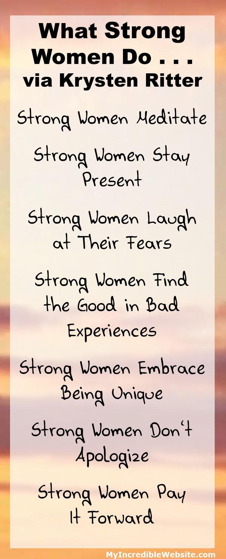 Krysten Ritter on What Strong Women Do