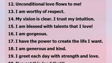 33 affirmations to build confidence