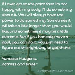Vanessa Hudgens on Exercise