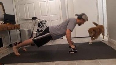 Exercise Fun: This Dog Loves This Man