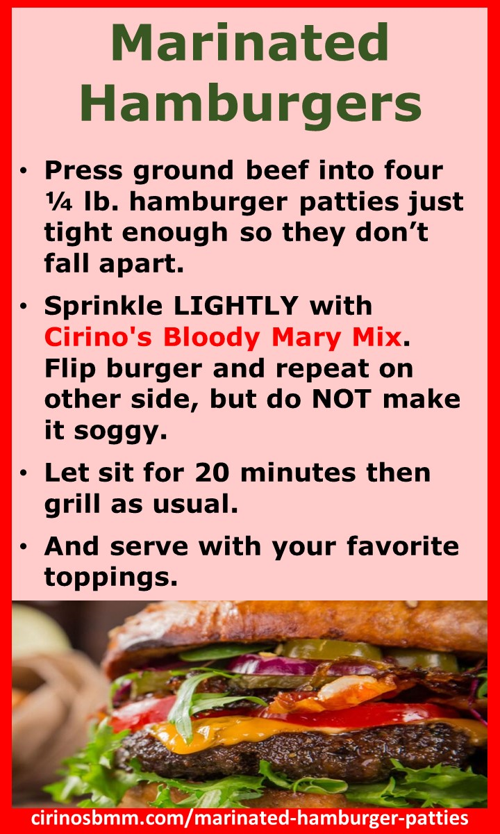 Marinated Hamburgers recipe
